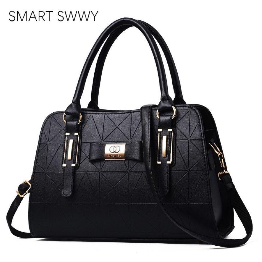 2019 Luxury Brand Pu Leather Women Crossbody Bags Metal Decor