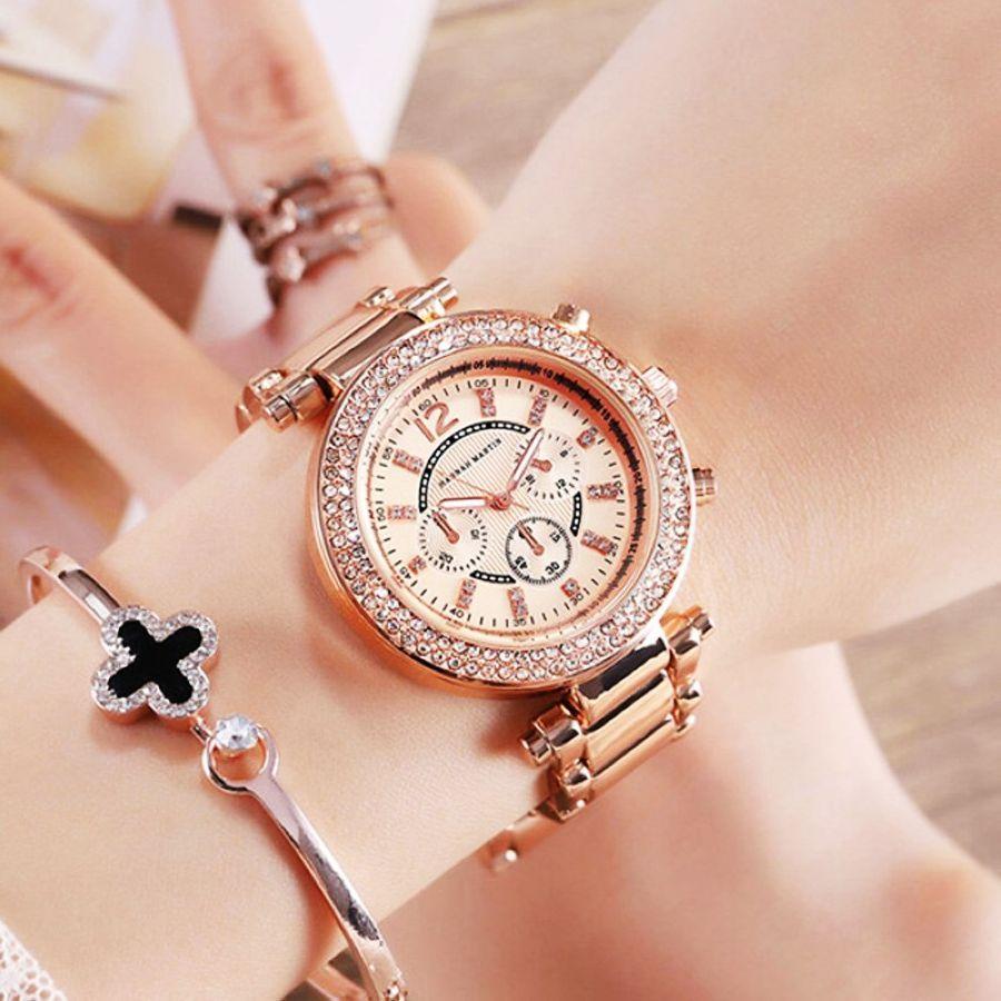 Women Bracelet Watches Luxury Brand Rose Gold Steel Ladies Quartz