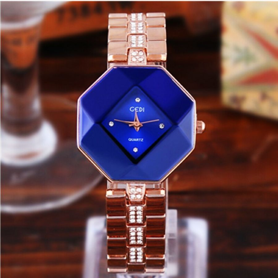 2019 Fashion Shining Exquisition Diamond-Studded Steel Fashion Casual Diamond-Shaped Versatile