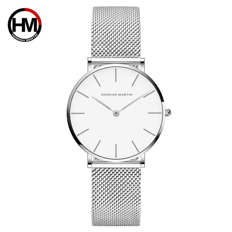 Top Luxury Brand Ladies Watch High Quality Stainless Steel Silver