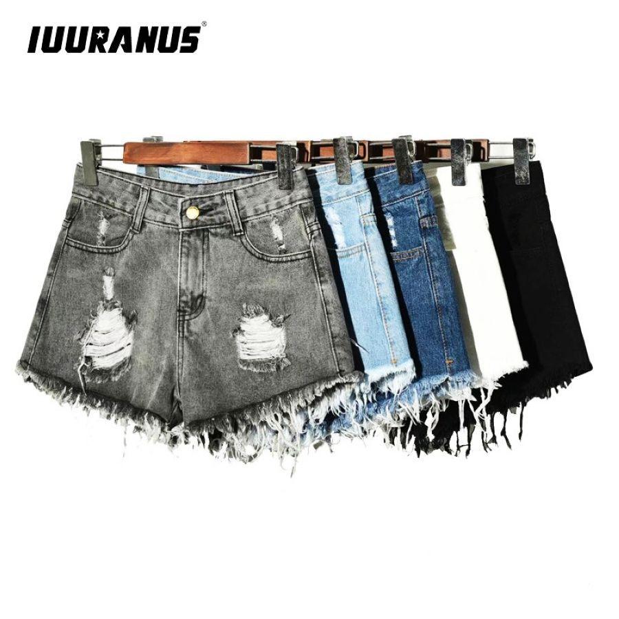 Pantalones cortos de mezclilla iuuranus para mujer vint