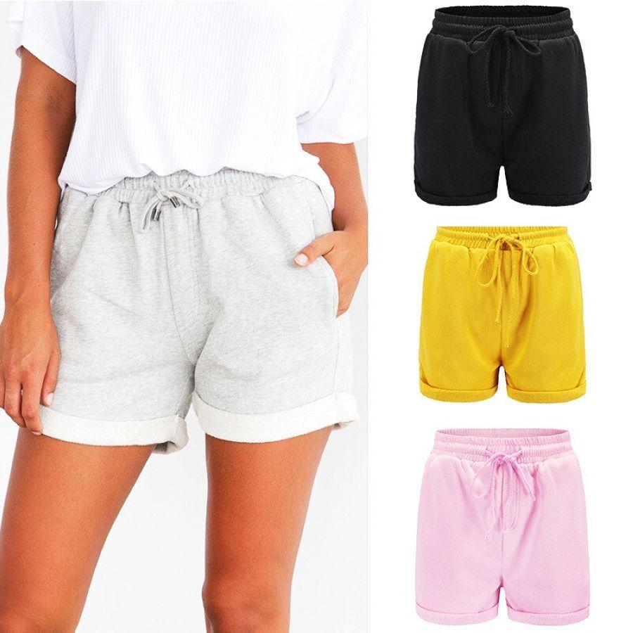 2019 pantalones cortos de algodón casual de verano para