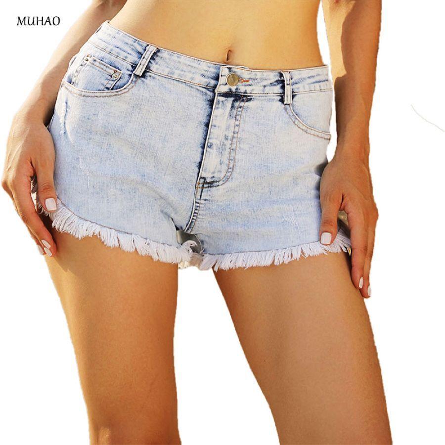 Muhao color claro burr lavado slim fit jeans shorts muj