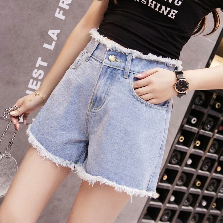 Berylbella mujer pantalones cortos denim verano algodón
