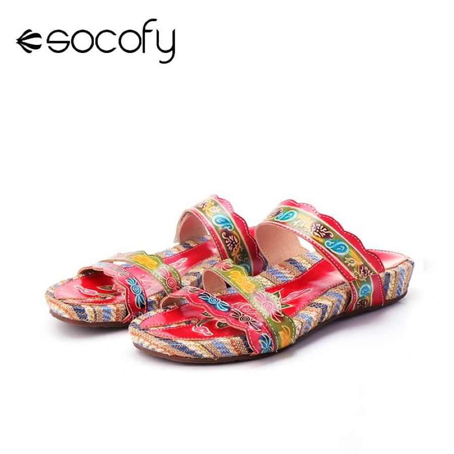 Shoes Socofy 2019 Shoes Women Summer Beach Sandals Retro Handmade